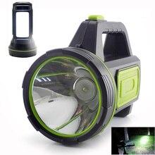 Linterna LED de alta potencia linterna recargable por USB, antorchas con batería integrada, luz lateral para pesca al aire libre, camping, portátil