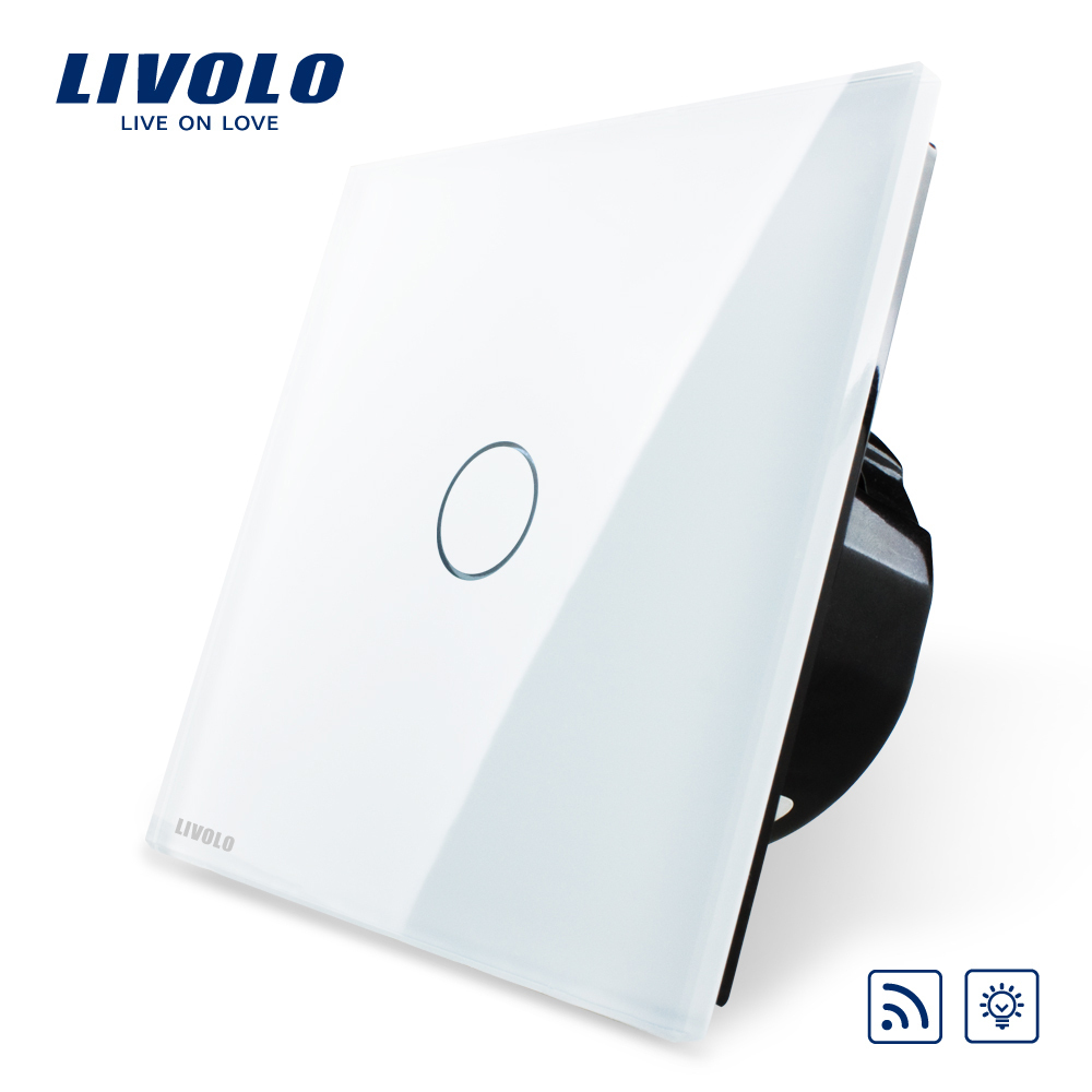 buy livolo wifi dimmer switch eu standard white crystal glass panel wireless. Black Bedroom Furniture Sets. Home Design Ideas