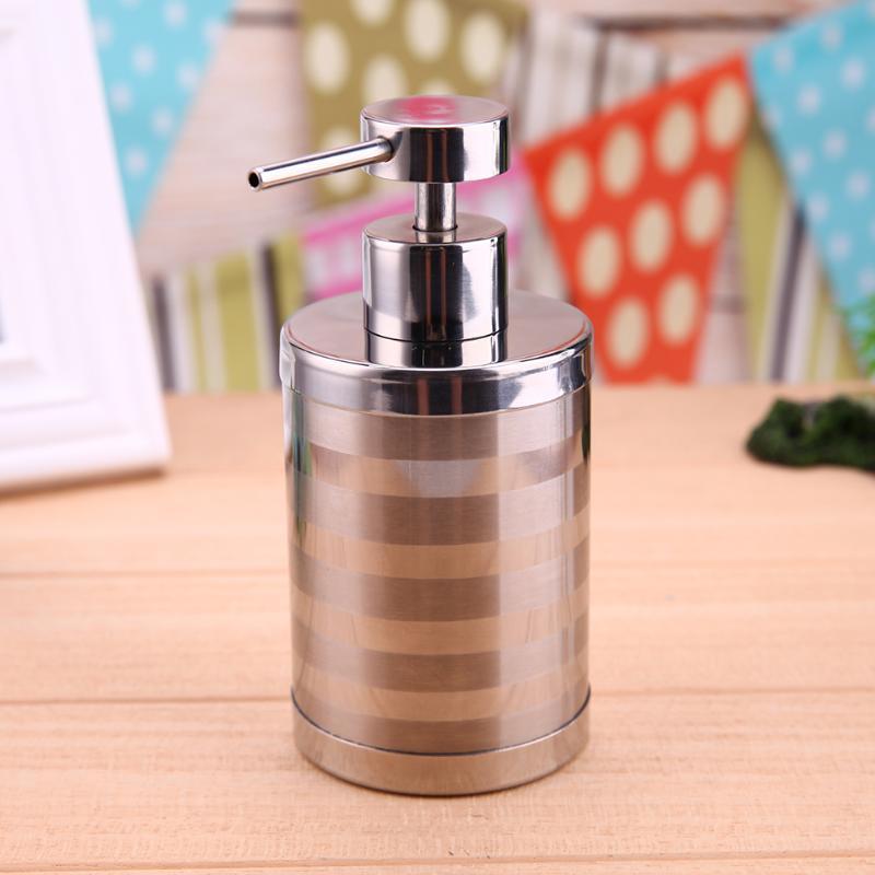 300ml Universal Home Bathroom Kitchen Liquid Soap Dispenser Bottle Silver  Stainless Steel Hand Shampoo Soap Dispensers In Liquid Soap Dispensers From  Home ...
