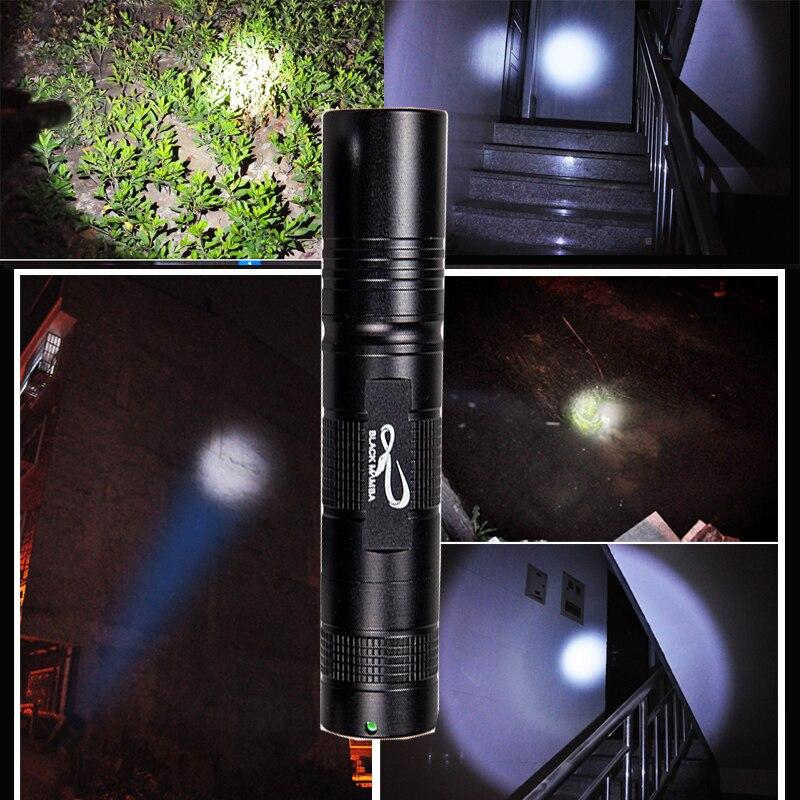 Blackmamba s5 Mini Q5 светодиодный фонарик с фонариком 2000LM 5 режимов 18650 портативный карманный фонарик для кемпинга и пеших прогулок