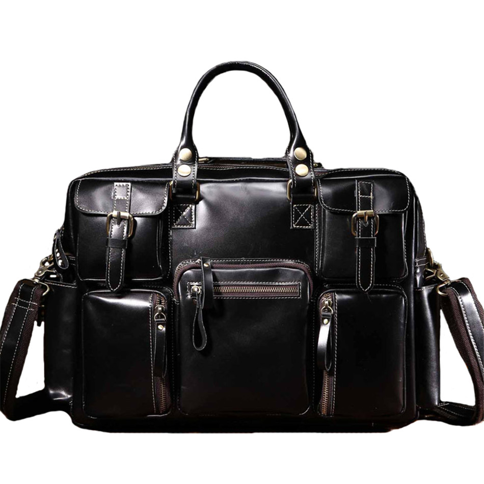 2018 Mens Vintage briefcase Top cowhide male Business bag Famous Brand Shoulder Bag Messenger Bags Laptop Bag sac homme