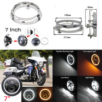 7INCH LED Headlight Mounting Ring Bracket With 7 MOTO Led Headlight For Harley Electra Glide Street FLHTC