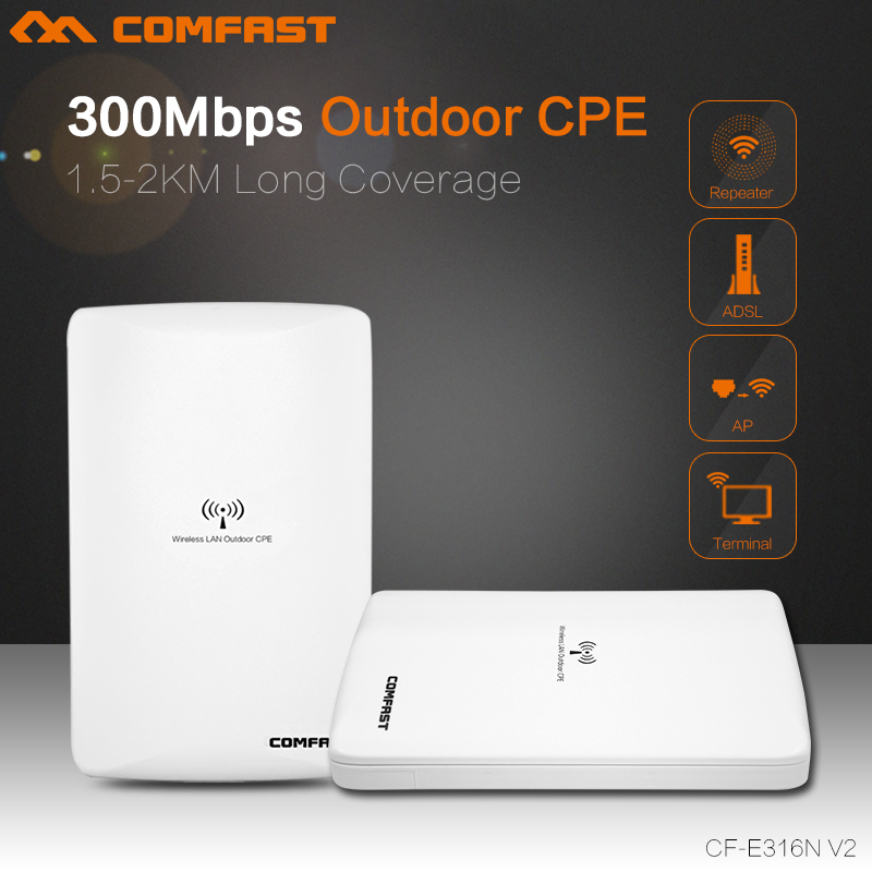 300Mbps wireless bridge CF-E316N outdoor high power CPE ATHEROS AR9531 chipset wi-fi repeater 2km Long transmission wifi router