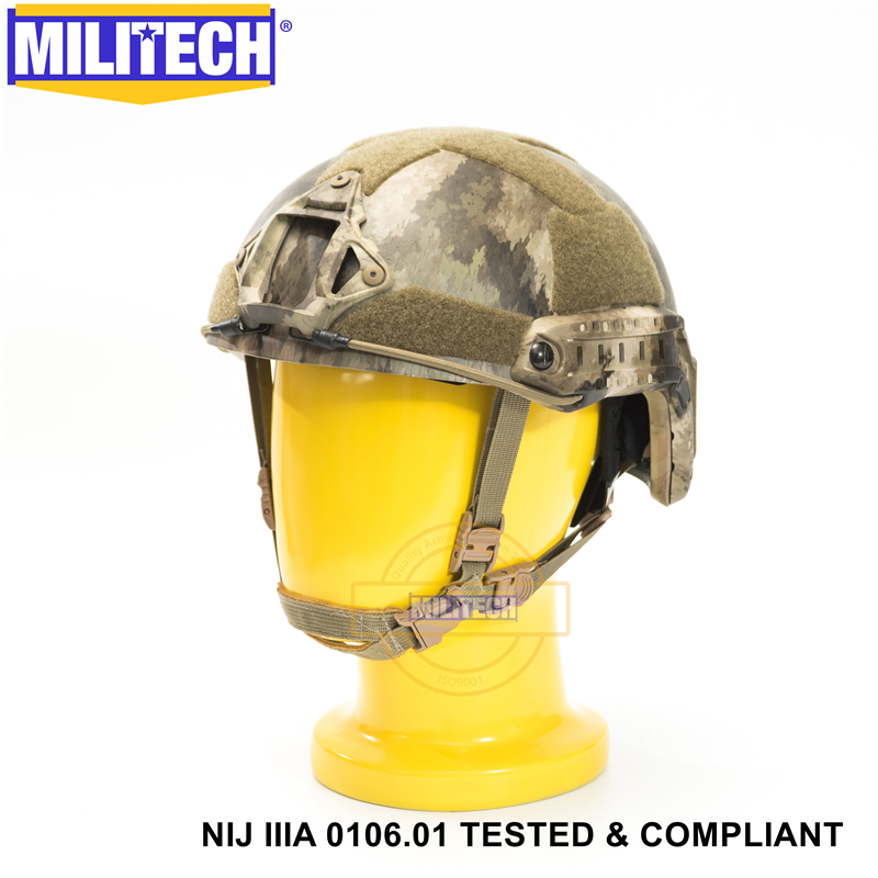 Image 5 - MILITECH Ballistic Helmet NIJ Level IIIA 3A ISO Certified FAST OCC Dial High Cut XP Cut Aramid Bulletproof Helmet With HelmetBag-in Self Defense Supplies from Security & Protection