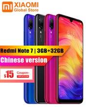 XIAOMI Redmi Note 7 3 Гб оперативная память 32 Встроенная смартфон S660 Octa Core 4000 мАч 6,3 «полноэкранный 2340×1080 48MP + 13MP камера мобильный телефон