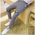 Pantalones hombre zeeshant 2017 outono sweatpants mens atividade skinny calças de treino de fitness em calças ocasionais dos homens dos homens do algodão