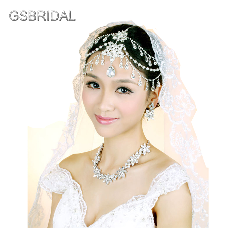 Wedding Hairstyles With Headband And Veil: Bridal Birdcage Wedding Veil 2017 Beautiful Pearl Lace
