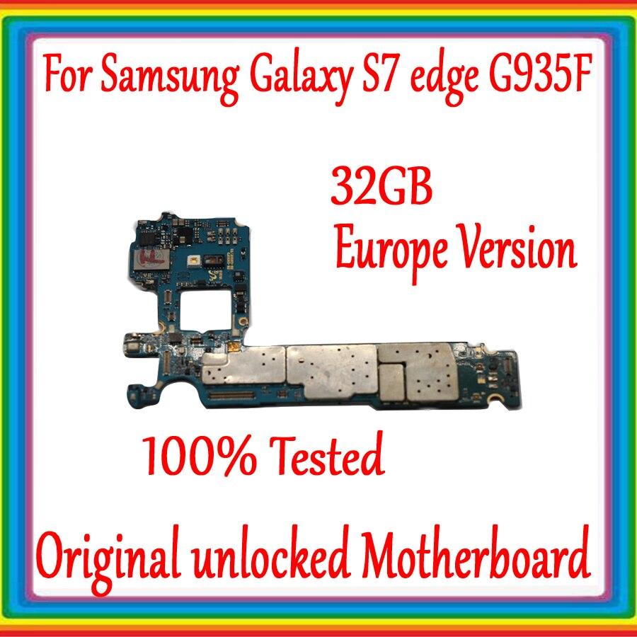 Pour carte mère Samsung Galaxy S7 edge G935F avec système Android, Original débloqué pour carte mère Galaxy S7 G935F, Version EU