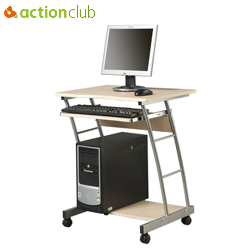 Actionclub Mobile Notebook Desktop Computer Desk Folded Adjustable Students Learning Table Simple Computer Desk With Wheel