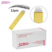 100PCS U-shape 12 pins Micro Needles  Permanent Makeup Eyebrow Tatoo Blade Microblading Needles