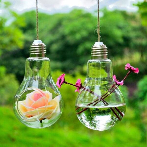 clear glass hanging jarrones forma cristal del florero decoracion jarrones hogar terrario vaso de piso hogar