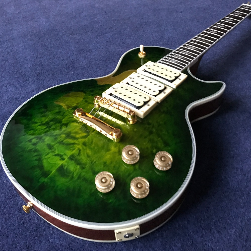 Custom Shop 3 Pickup Ace Frehley green color guitar musical instruments chinese electric guitar free shipping