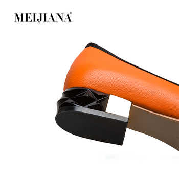 MEIJIANA 2019 Spring Autumn Genuine Leather Low Heels Casual Pumps Genuine Leather Women