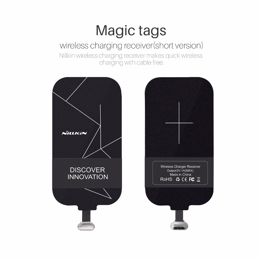 NILLKIN Magic tags TYPE C Qi Wireless Charging Receiver (Short Version) For Oneplus 3 Huawei Nova Plus/Honor 8 For Meizu Pro 6|charging receiver|wireless charging receiver|qi wireless charging receiver - title=