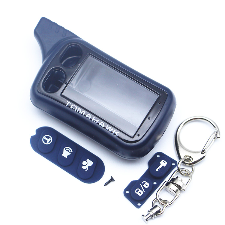 TZ9010 Case Keychain Tamarack for 2 way Car Alarm System Tomahawk TZ-9010 TZ-9030 TZ9030 key Fob TZ 9010 9030 LCD Remote Control tomahawk tz 7010