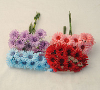 diy baby hair flowers Colorful cloth sunflowers hand-craft versatile accessories 100 pieces