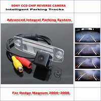 HD CCD SONY Rear Camera For Dodge Magnum 2004~2008 Intelligent Parking Tracks Reverse Backup / NTSC RCA AUX 580 TV Lines
