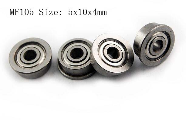 (10 PCS) MF105ZZ (5x10x4 mm) Flanged Metal Shielded Ball Bearing <font><b>5*10*4</b></font> Bearings image
