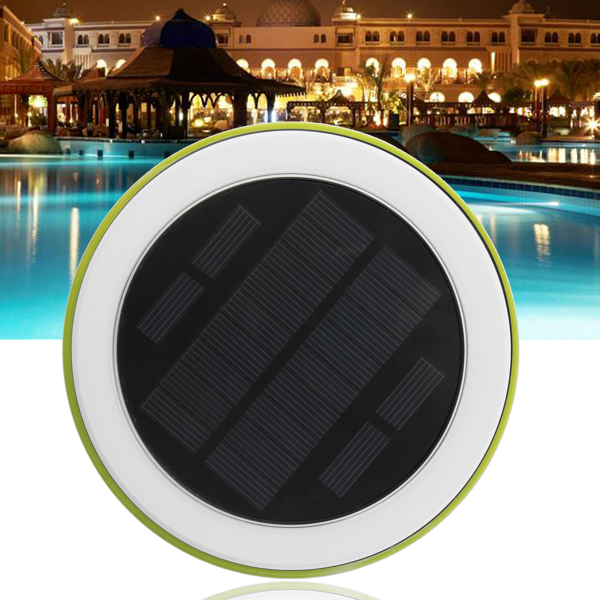 LED Underwater Light RGB Solar Power Pond Outdoor Swimming Pool Floating Waterproof Decorative LED Light With Remote Control