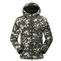 Army Military Tactical Mens Softshell Jackets Camouflage Hooded Outdoor Windbreaker Fleece Warm Camping Hiking Hombre Coat
