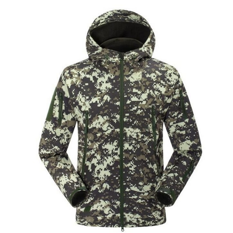Army Military Tactical Mens Softshell Jackets Camouflage Hooded Outdoor Windbreaker Fleece Warm Camping Hiking Hombre Coat new men s military style casual fashion canvas outdoor camping travel hooded trench coat outerwear mens army parka long jackets