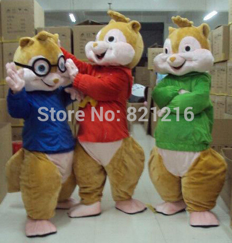 New Alvin and Chipmunks Mascot Costume Alvin Mascot Costume უფასო ტრანსპორტირება