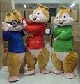 2017 Venta Caliente! nueva Alvin Alvin y las Ardillas Traje de La Mascota Traje de La Mascota Envío Gratis