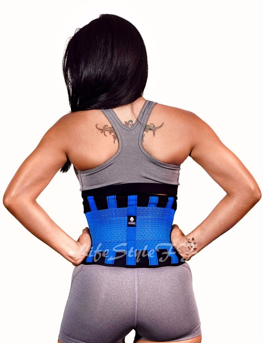 9c23ded98273b As Seen On TV Tecnomed Belt Fitness Body Shaper with blue black color now  avaialable-in Back Support from Sports   Entertainment on Aliexpress.com