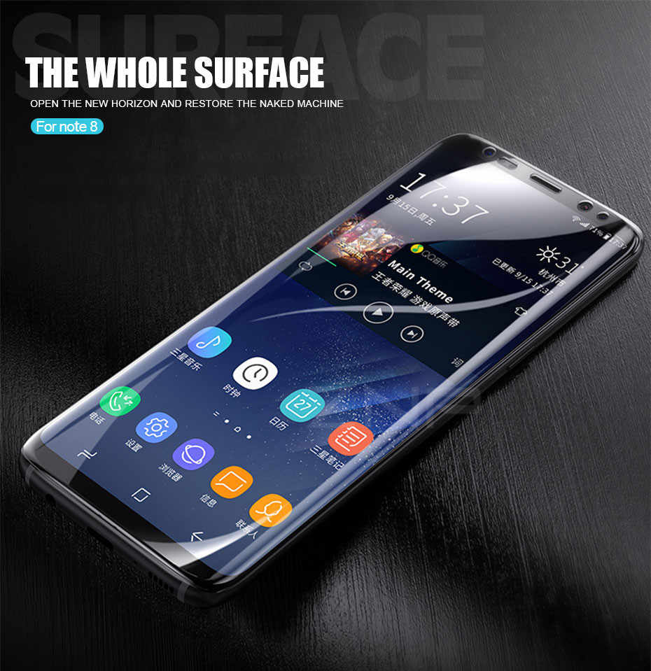 Protective Film For Samsung Galaxy Note 8 S8 S9 Plus Soft Full Curved  PET Film For Samsung Note 8 ( Not Glass ) Specialty Tools