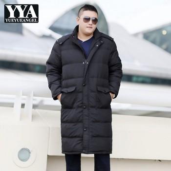 Big Size 7XL 8XL 9XL 10XL Men Long Down Jacket Classic Hooded Warm Ultra Light Down Jacket Men Hooded Zipper Winter Coats Male