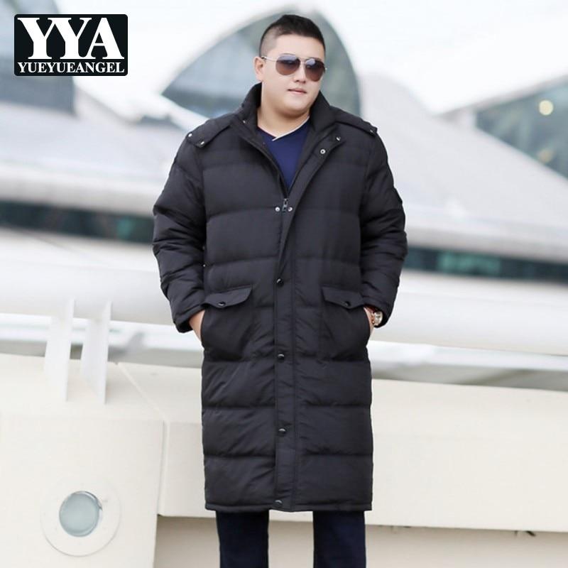 Grande taille 7XL 8XL 9XL 10XL hommes Long doudoune classique à capuche chaud Ultra léger doudoune hommes à capuche Zipper hiver manteaux mâle