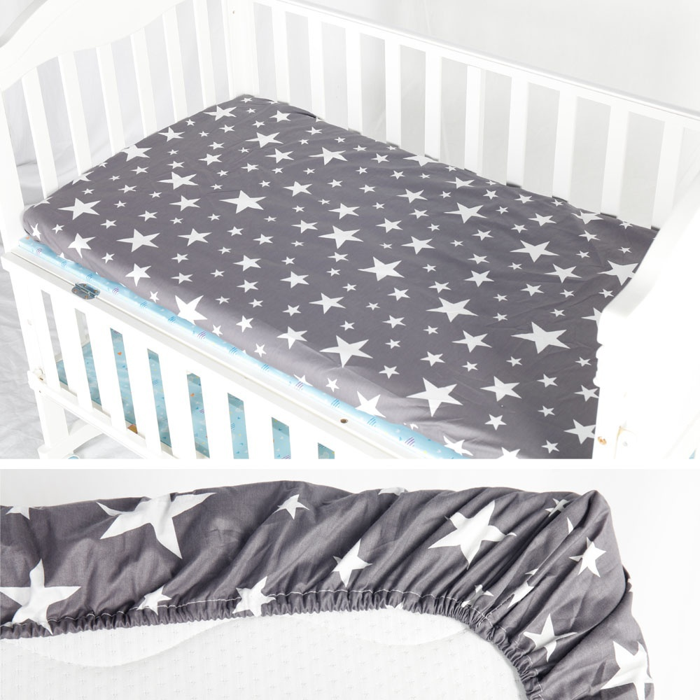 Cot 72X132CM Printed 100% Cotton Fitted Portable Mini-Crib Sheet Soft Baby Bed Mattress Cover Protector Cartoon Newborn Bedding