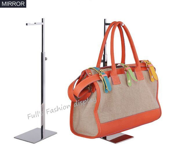 Free Shippping 7 Shape Stainless Steel Women Bag Display Rack Tie