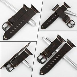 Image 2 - MAIKES שעון אביזרי אמיתי פרה עור עבור אפל שעון להקות 44mm 42mm & iwatch רצועת 40mm 38mm סדרת 4 3 2 1 צמידים