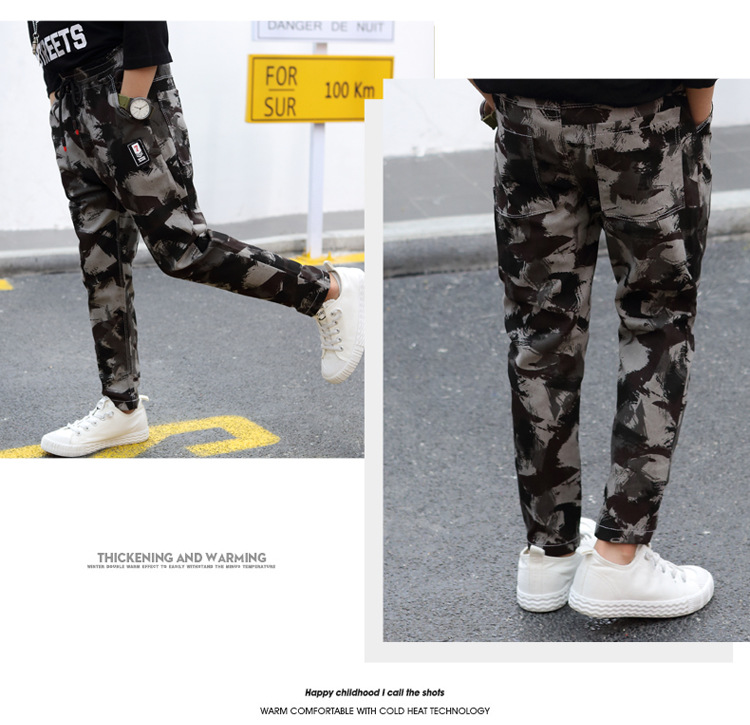 HTB1uJzHa. rK1Rjy0Fcq6zEvVXaB - Children Jeans Pants 2019 Spring Autumn Korean Version Kids Casual Camouflage Trousers For Boys 4 6 8 10 12 Years Pants DWQ025
