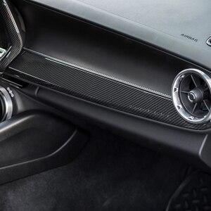 Image 4 - Внутренние наборы SHINEKA ABS, украшение для пассажирской боковой панели, отделка из углеродного волокна для 6 го поколения Chevrolet Camaro 2017 +