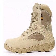 Pria Musim Dingin Outdoor Militer Boots Pria Pasukan Khusus Sepatu Tempur Taktis  Sepatu Bot Sepatu Gurun Delta Tinggi untuk Memb. 20e8b80e24