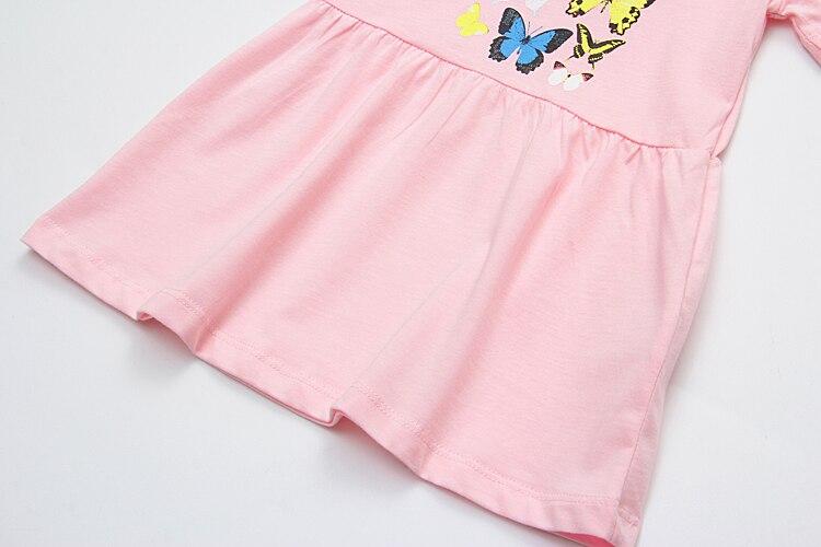 Summer Cat Design Cotton Dress For Babies, Girls