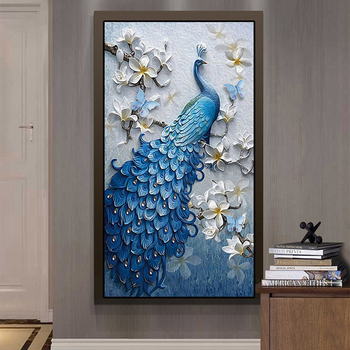 5D Diy Diamond Painting Peacock Full Round Handmad Mosaic Diamond Embroidery New Arrivals Christmas decorations Home Decor