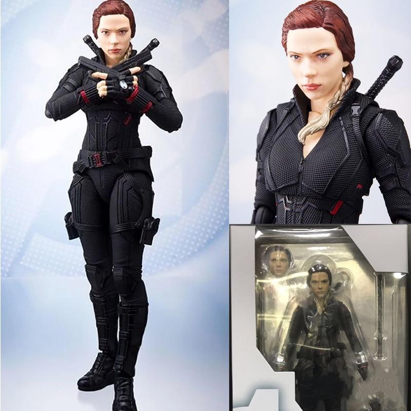 6inch 15cm Marvel Avengers 4 Endgame SHF Black Widow Action Figure Model Toys Doll For Gift