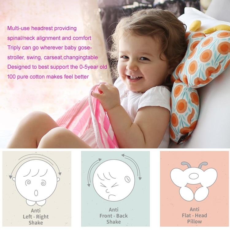 3 Anti Step Baby Kid toddler Head Neck Suppot Headrest Travel Car ...