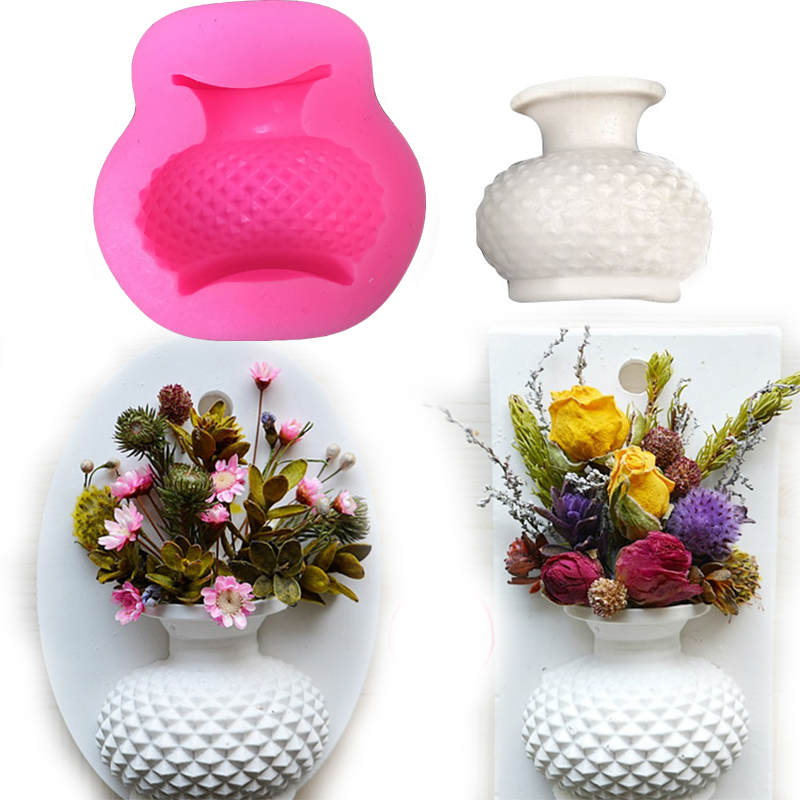 Flower Vase 3d Candle Mold Silicone Mold Resin Clay Candle Molds