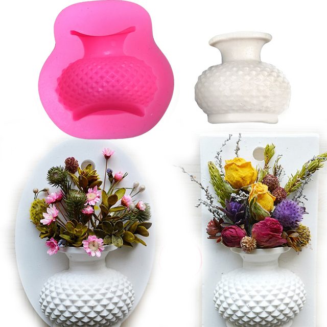 225 & US $2.67 14% OFF|Flower Vase 3D Candle mold silicone mold Resin Clay Candle Molds Cupcake Fondant Decorating Candy Soap Mold-in Clay Extruders from ...