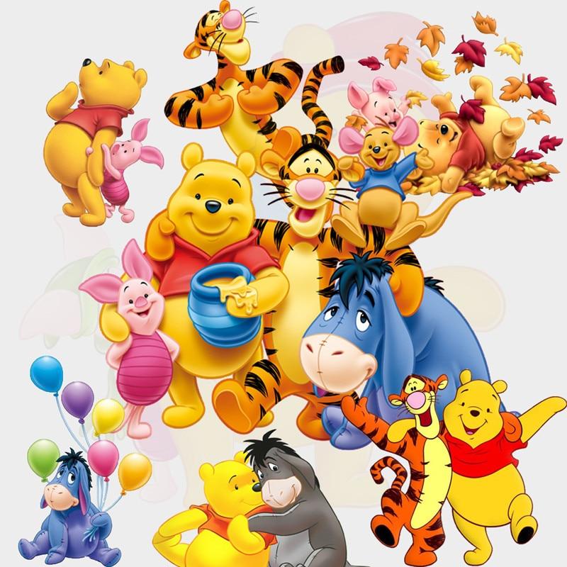 Winnie Bear Cartoon Wall Decals The Pooh Tigger 3d Vinyl