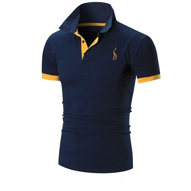 Heiß-Verkauf am neuesten echte Qualität am besten kaufen US $10.99 |2017 herren Poloshirt Marken Männlichen Kurzarm Mode Beiläufige  Dünne Deer Stickerei Druck Männer Polo XXXL in 2017 herren Poloshirt Marken  ...