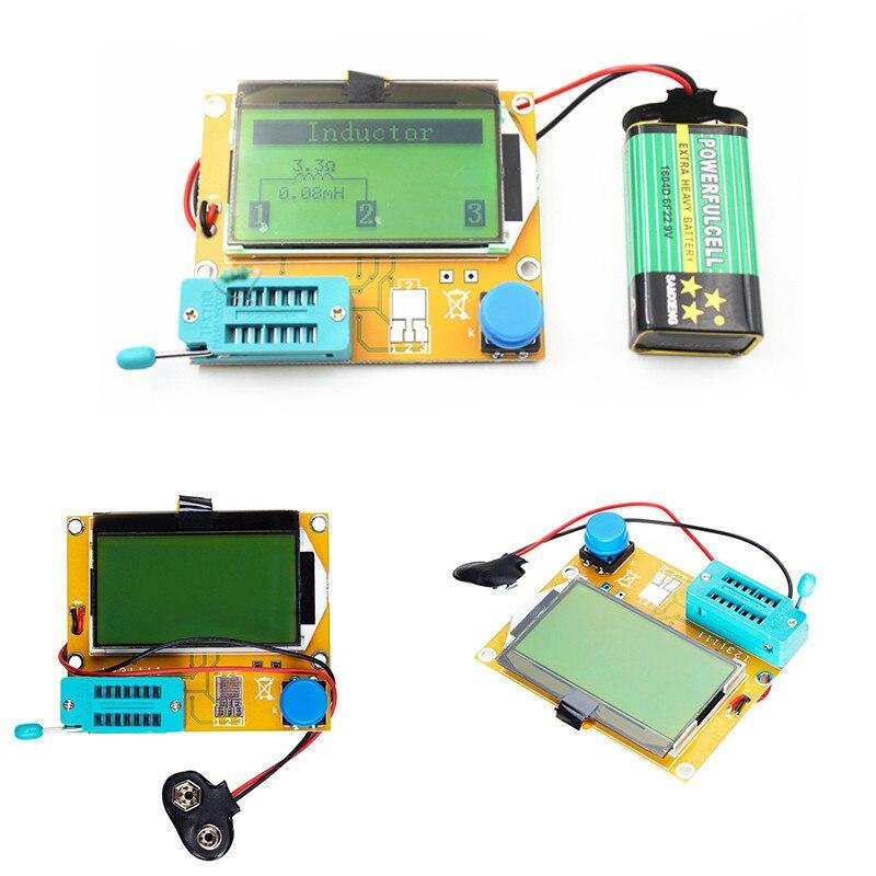 Mega328 Digital Transistor Tester Diode Triode Capacitance resistance ESR Meter MOS PNP NPN
