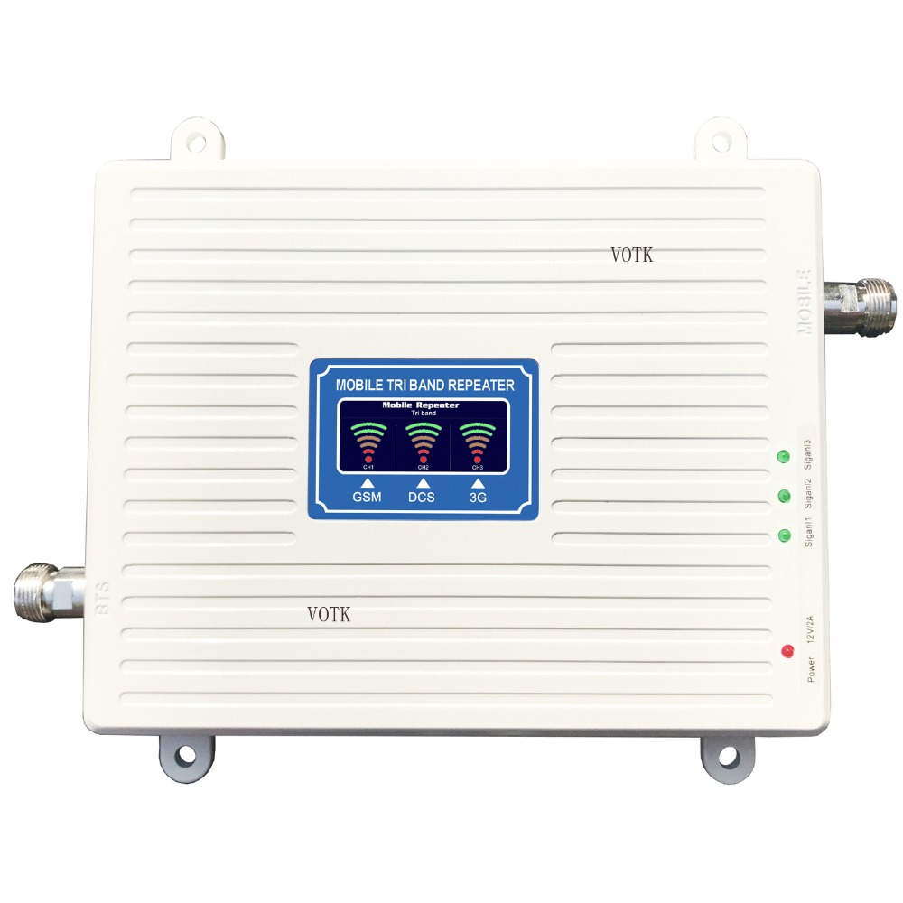 2018 NEW GSMDCS3G SIGNAL REPEATER  Mobile Phone Tri Band Signal Booster 2G 3G 4G 900/1800/2100MHZ SIGNAL  AMPLIFIER