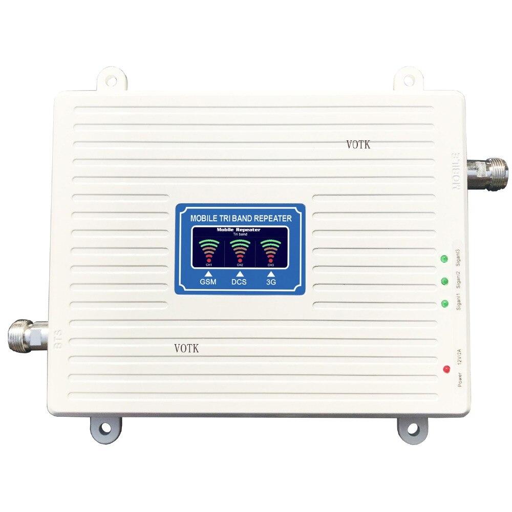 2018 nouveau répéteur de SIGNAL GSMDCS3G amplificateur de signal à trois bandes pour téléphone portable amplificateur de SIGNAL 2G 3G 4G 900/1800/2100MHZ