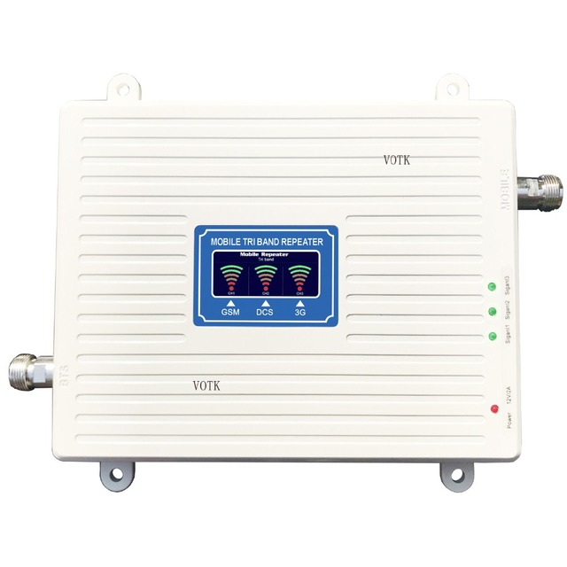 GSM אות מהדר נייד Tri מותג אות מאיץ 2G 3G 4G 900/1800/2100MHZ אות מגבר