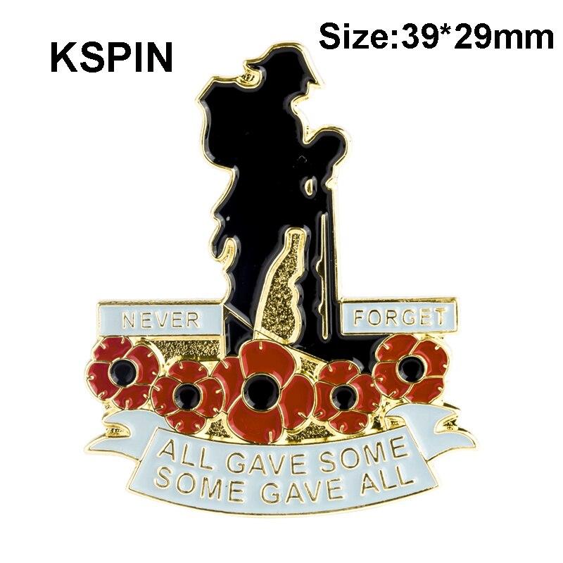 KSPIN coquelicot fleur épinglette Badge broche 100 pièces beaucoup homme tous donner un peu tout XY0180-in Insignes from Maison & Animalerie    1